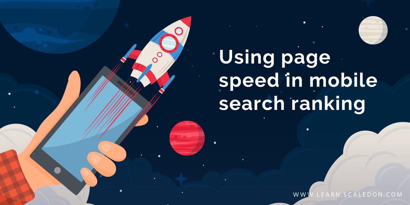 Using page speed in mobile search ranking